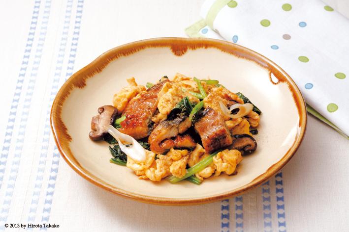 鰻魚青菜炒蛋