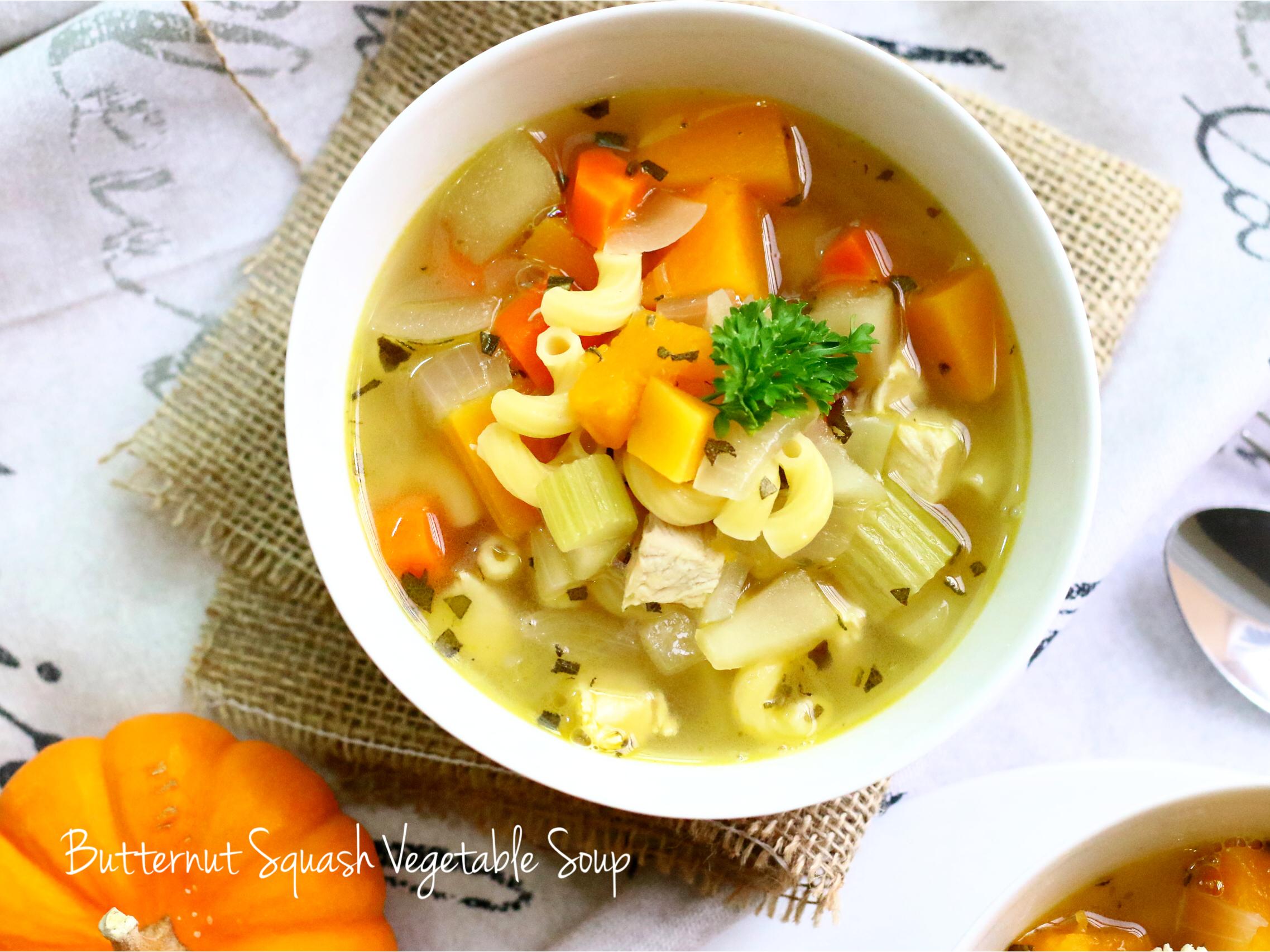 Butternut squash vege soup