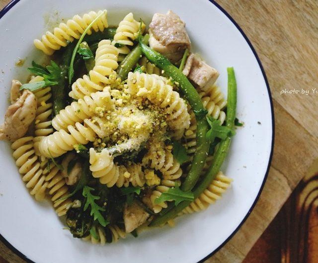 。試作。《不可思議!一鍋煮魔法PASTA》綠色蔬菜義大利麵