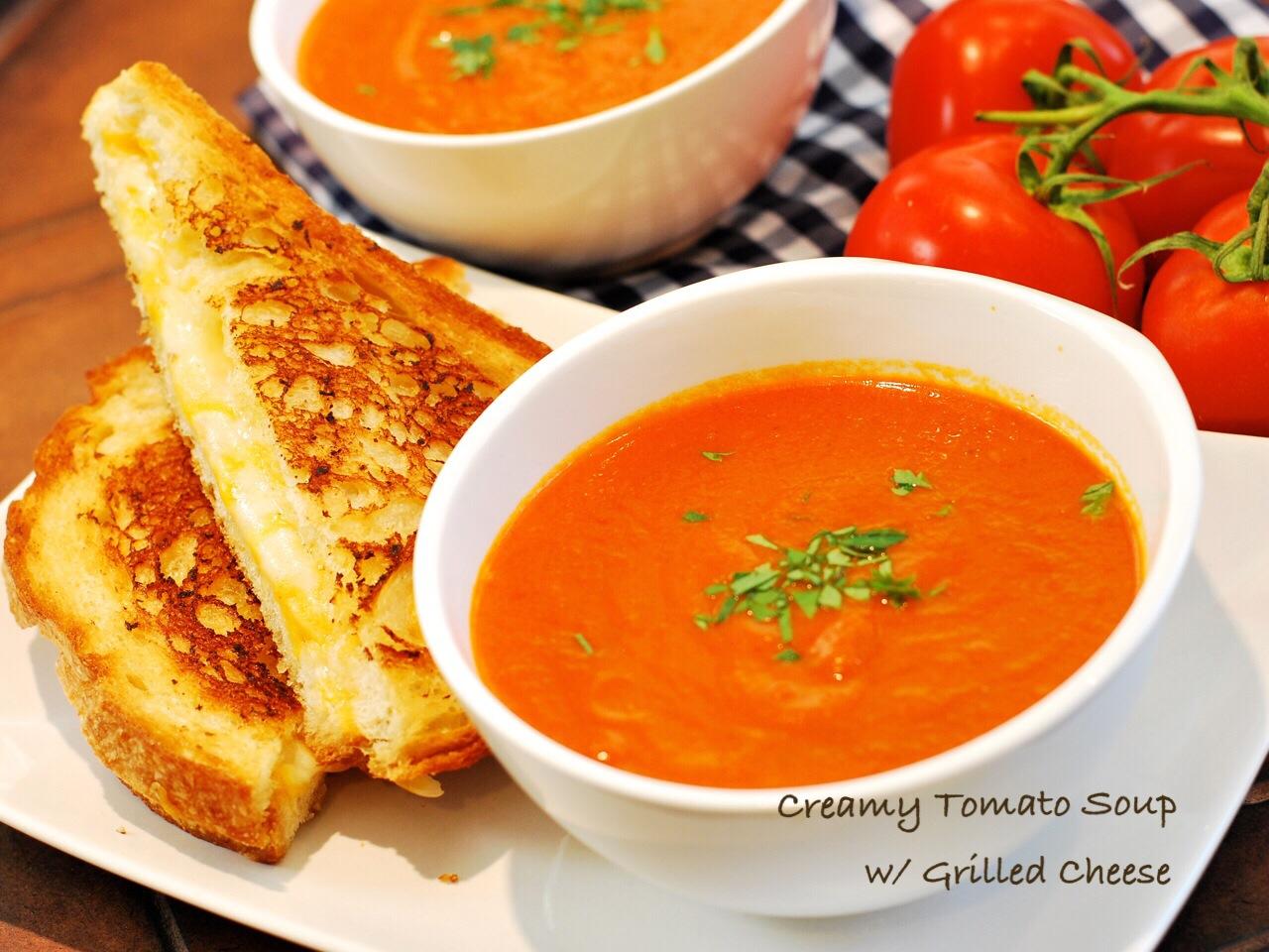 [貝兒實驗室] 美式午餐精選:蕃茄濃湯與起司三明治