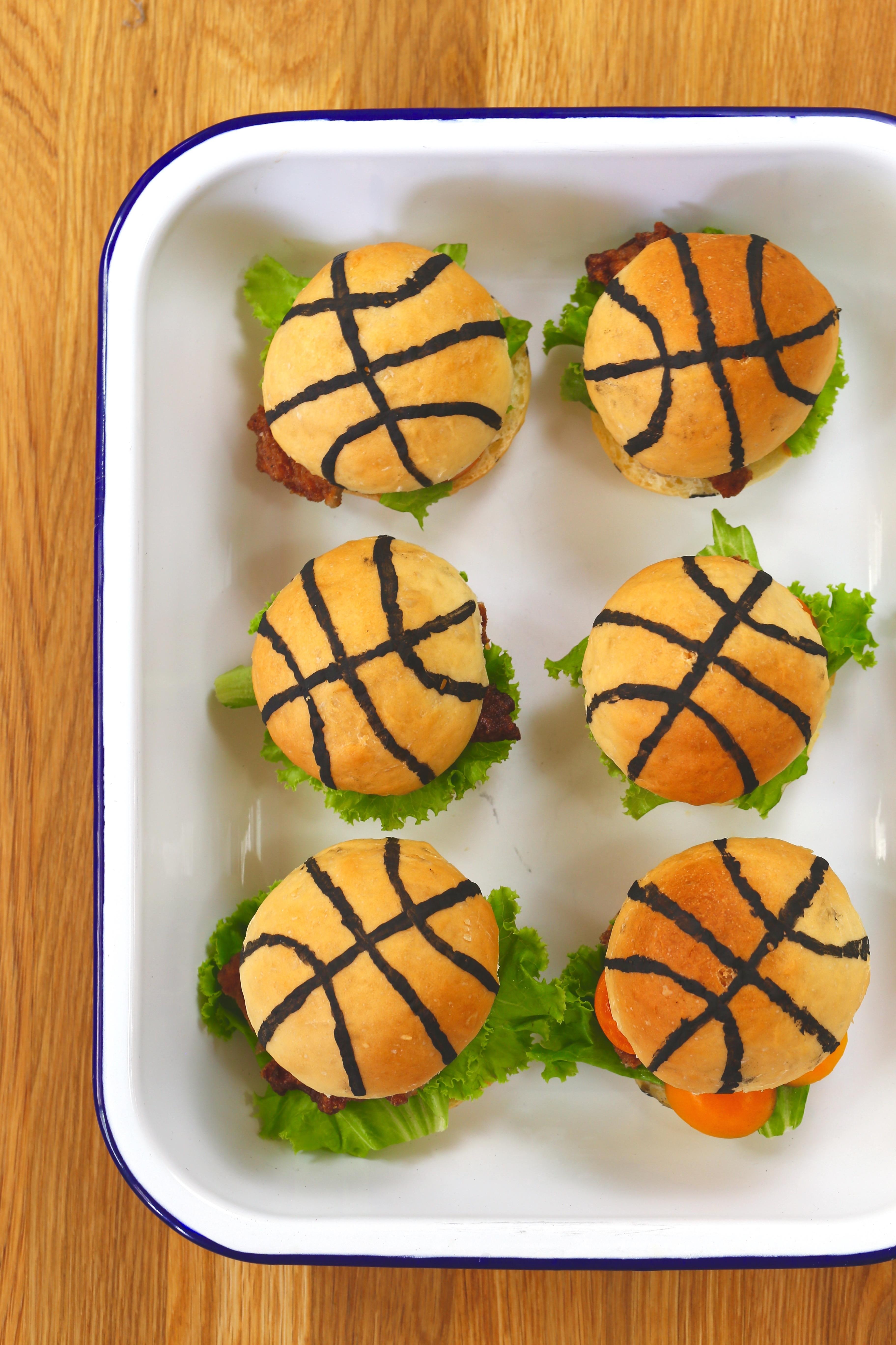 籃球造型小漢堡2