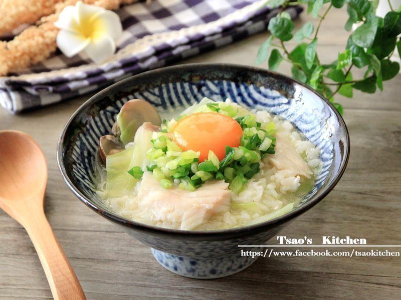 窩蛋魚片粥