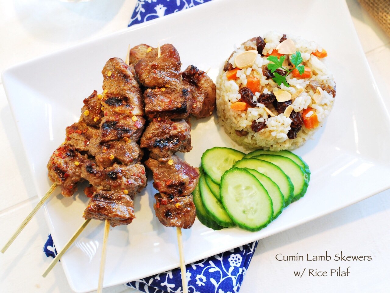 Cumin lamb skewers