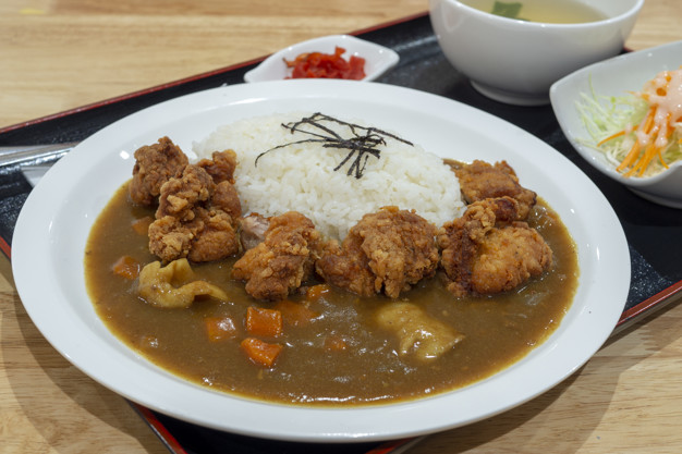 49004831 tongkatsy japanese fried pork and curry goes with white rice 9354 100