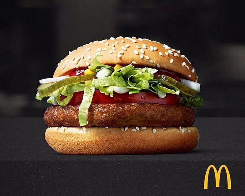 麥當勞的McVegan漢堡